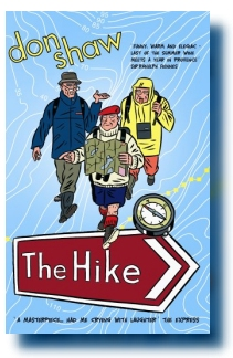 The front cover of the Ebury Press edition of Don Shaw novel 'The Hike'
