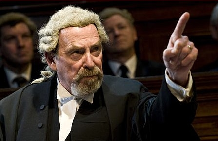 Denis Lill in Witness for the Prosecution, 2010 theatre tour