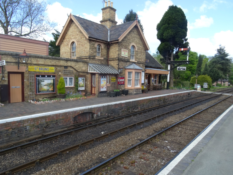 Hampton Loade station, where Charles is discovered unconscious in a train wagon