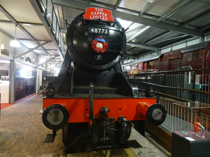 Engine 8233, now reverted to its original number 48773, on display in the museum at Highley Station
