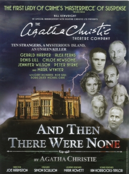 Promotional flyer for 2008 stage production of Agatha Christie's 'And Then There Were None'