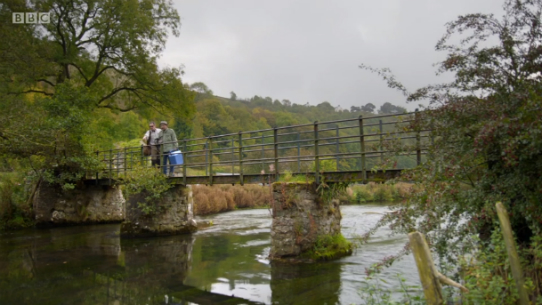 Whitehouse and Mortimer: Gone Fishing - Rainbow Trout - Derbyshire Wye - bridge close to Netherdale Farm