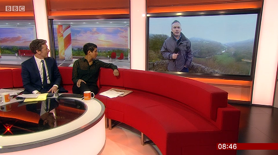 Introducing the report on the national parks on BBC Breakfast on 11 January 2019