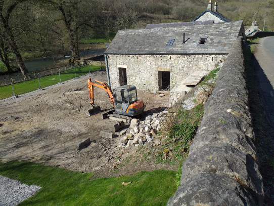 Building work at Upperdale House in Monsal Valley