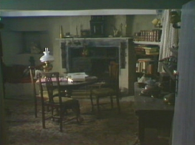 The living room of Fenton's house